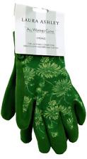 Laura Ashley All Weather Gardening Gloves Green Kimono Print, Ladies Small - NEW