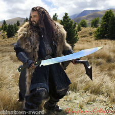 High manganese steel blade Lord of the Rings Hobbit Elven Orcrist Sword #0040