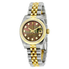 Rolex Lady Datejust 26 Black Mother of Pearl Dial Stainless Steel and 18K