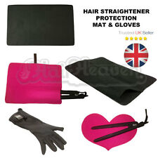 Hair Straightening Heat Proof Mat, Pouch or Gloves for straighteners - choose