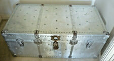 RETRO VINTAGE LIGHTWEIGHT METAL TRAVEL TRUNK/Glory Box 1960's