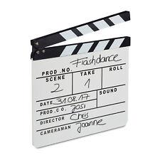 Filmklappe weiß Regieklappe Clapboard Clapperboard Szenenklappe Synchronklappe