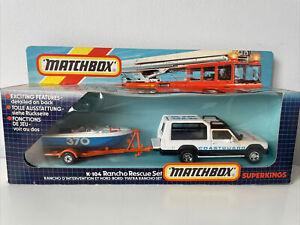 VINTAGE 1985 - MATCHBOX SUPERKINGS K-104 RANCHO RESCUE SET - NEW