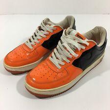 BAYS SUCKA FREE Men's Shoes 9 1/2 Orange Black HTF Hip Hop Rapper Skate