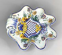 Carvalhinho Porto Hand Painted Clam Shell Trinket Dish Ashtray Portugal P-136