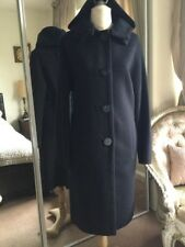 Agnona Black Coat.99% Cashmere. Size46.Made In Italy