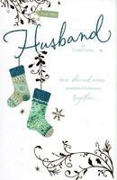 Husband Traditional Christmas Greeting Card Luxury Embellished Cards