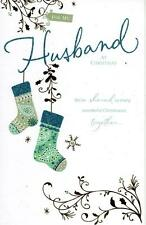 Husband Traditional Christmas Greeting Card Luxury Embellished Cards