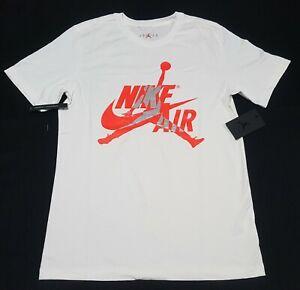 Nike Men's Air Jordan Classics T-Shirt  White  BV5905-101