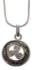 Collier, petit médaillon pendentif triskel spirales, Teen Wolf, nouveauté.