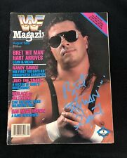 BRET THE HITMAN HART SIGNED WWE MAGAZINE AUGUST 1988