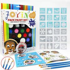 BIG Face Painting Stencil Kit DIY Set Body Tattoo KIDS Birthday Party Halloween