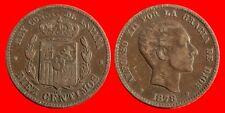10 CENTIMOS ALFONSO XII 1878-MBC-ESPAÑA-23465