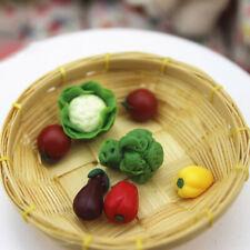 7Pcs Cute Mini Kitchen Vegetable Resin Craft Kids Dollhouse Miniature Decor Set