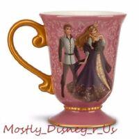 New Disney Store Designer Fairytale Aurora Prince Phillip Couple Ceramic Mug Cup