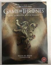 GAME OF THRONES - SEASON 6 (LIMITED EDITION LANNISTER GOLD COVER) [DVD] NEW