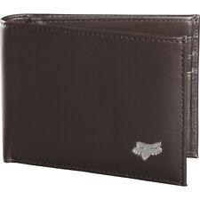 Fox Racing MX Bi-fold Foxhead Motocross Brown Mens Genuine Leather Wallet