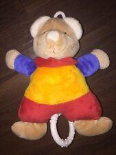 Paradise Toys Lidl Spieluhr Plüschtier Teddybär Melodie Halstuch Rot Gelb Blau