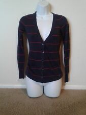 Pre-owned  button down striped Cardigan in  navy and red Size XS