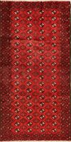 Vintage Geometric Balouch Hand-Knotted Area Rug All-Over Oriental Carpet 4x7 RED