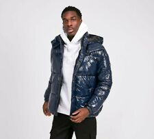 MENS TOMMY JEANS HIGH SHINE PUFFER JACKET NAVY (SA2) RRP £174.99