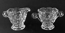 Heisey #1506 Whirlpool Clear Creamer and Open Sugar 1938 - 1957