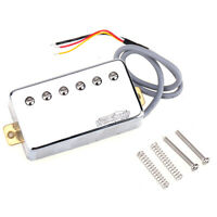 Wilkinson Chrome Vintage Tone Alnico 5 PAF Humbucker Neck Pickup For LP Guitar