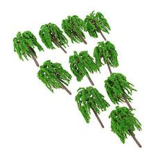 Model Trees 10pcs Miniature Landscape Park River Railways Scenery N Scale