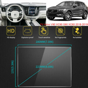 """For Volvo V90 XC90 S90 XC60 2018-2019 Vehicle GPS Screen Glass Protector Film 9"""""""