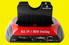DOCK BASE PARA 2 DISCOS DUROS SATA 2,5 3,5 USB ESATA E-SATA LECTOR TARJETAS 3.5