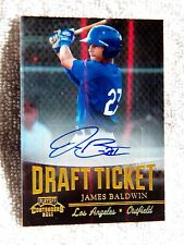 Los Angeles Dodgers James Baldwin Signed 2011 Contenders Draft Ticket Auto Card