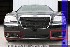 GTG 2011 - 2014 Chrysler 300 and 300C 2PC Gloss Black Accent Billet Grille Kit