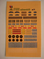 DECALS 1/43 PORSCHE 934 935 936 CARRERA 908 911 N.11 GENERICA DECAL