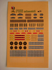DECALS KIT 1/43 PORSCHE 934 935 936 CARRERA 908 911 DECALS N.11 DECAL