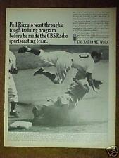 1967 Phil Rizzuto New York Yankees Baseball Memoraiblia CBS Radio Photo Print Ad