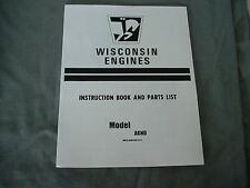 WISCONSIN  ENGINE  AGND   INSTRUCTION, REPAIR & PARTS MANUAL BRAND NEW