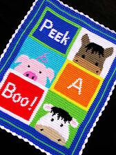 Crochet Patterns - PEEK A BOO! BARNYARD FARM ANIMALS (horse/pig/cow) *EASY*
