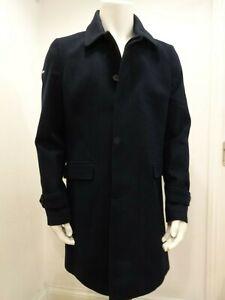 Superdry Men's Wool Overcoat - Navy, M5000033A - BNWT