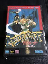 Landstalker Complete Very Good Condition Mega Drive Japan MD Video Game SEGA