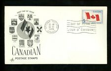 Postal History Canada Fdc #439 Art Craft Canadian Flag 1965