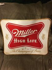 Miller High Life Tin Embossed Beer Sign