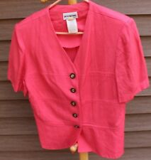 Woman's Bright Pink Jacket/Shirt by Perceptions