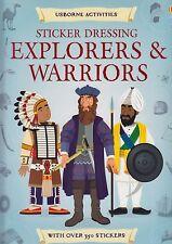 Usborne Sticker Dressing Explorers & Warriors BRAND NEW by Struan Ried P/B 2013