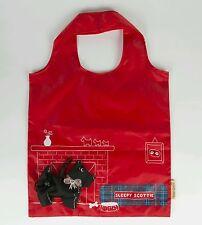Sass & Belle Scottie Dog rosso forte pieghevole riutilizzabile Shopping Bag le Madri Giorno