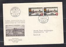 Switzerland 1942  First Day cover, Geneva to Bern SC#B117 pair