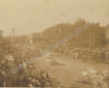 HUMBOLDT NEBRASKA FOURTH OF JULY PARADE ON DOWNTOWN STREET circa 1900 Orig Photo