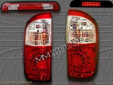 04-06 TOYOTA TUNDRA DOUBLE CAB RED CLEAR LED TAIL LIGHTS+ 3RD BRAKE LIGHT NEW