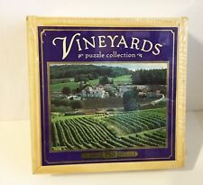 "Vineyards ""St. Preuil, France"" 750 Piece Puzzle in a Collector's Wooden Box NEW!"