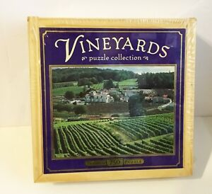 """Vineyards """"St. Preuil, France"""" 750 Piece Puzzle in a Collector's Wooden Box NEW!"""