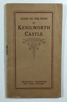Vintage Travel Guide to the Ruins of Kenilworth Castle WH Smith and Son
